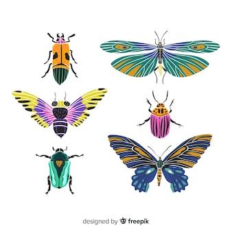 Coleção de insetos de mão desenhada