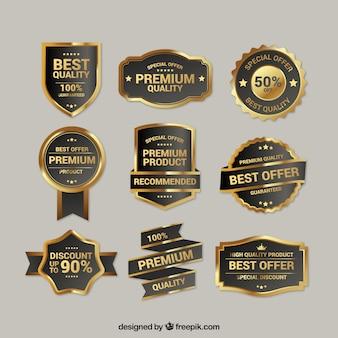 Coleção de insígnias de ouro de qualidade superior