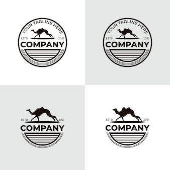 Coleção de inspiração para o design do logotipo de camelo