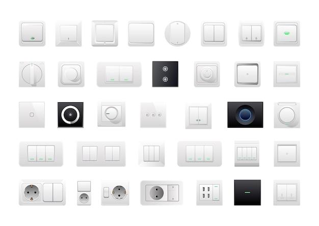 Coleção de interruptores de parede