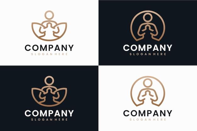 Coleção de ioga, inspiração para design de logotipo