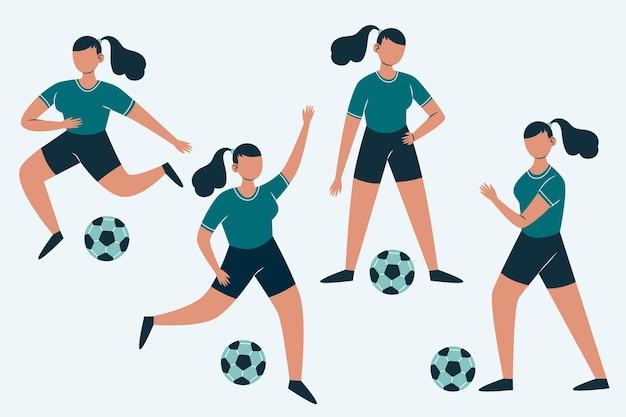 Coleção de jogadores de futebol