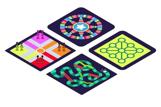 Coleção de jogos de tabuleiro para diversão