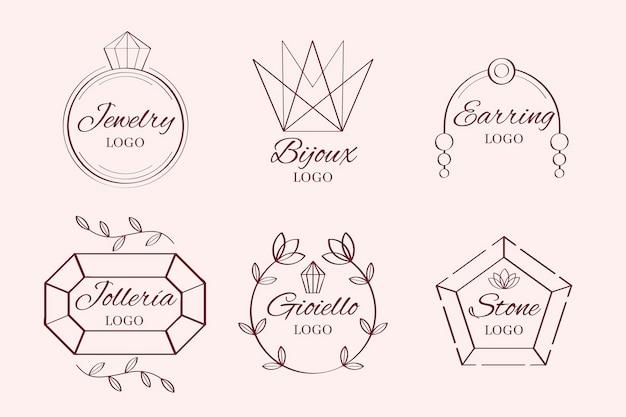 Coleção de joias com logotipo desenhado à mão