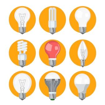 Coleção de lâmpadas