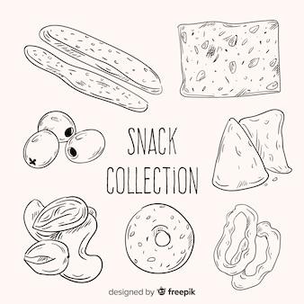 Coleção de lanches saborosos