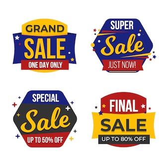 Coleção de layout de banner de venda
