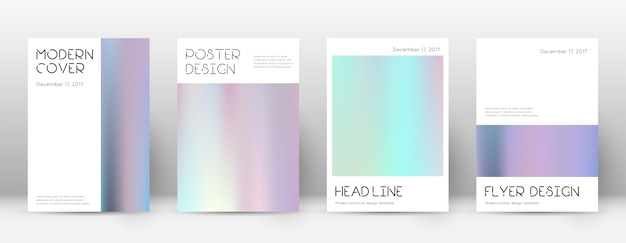 Coleção de layout gradiente de panfleto