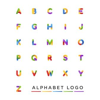 Coleção de letra do alfabeto design de logotipo