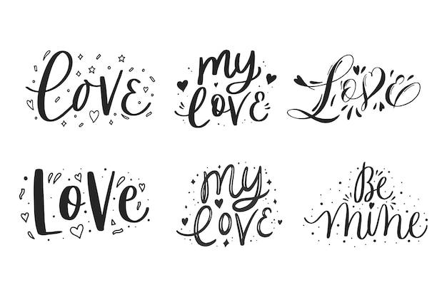 Coleção de letras de amor