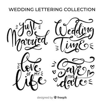 Coleção de letras de casamento