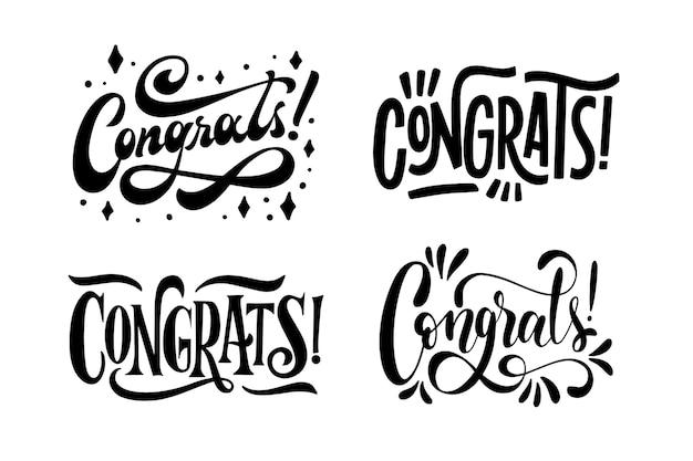 Coleção de letras de parabéns