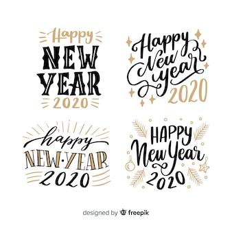 Coleção de letras do ano novo 2020