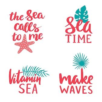 Coleção de letras marinhas