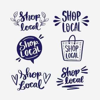 Coleção de letras para apoiar empresas locais