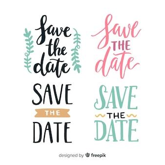 Coleção de letras para evento de casamento