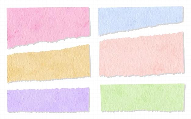 Coleção de lindas fitas washi aquarela pintada à mão