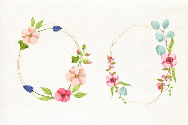 Coleção de lindas molduras florais