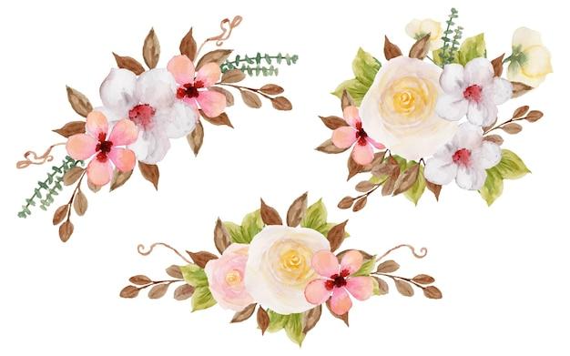 Coleção de lindo buquê de flores