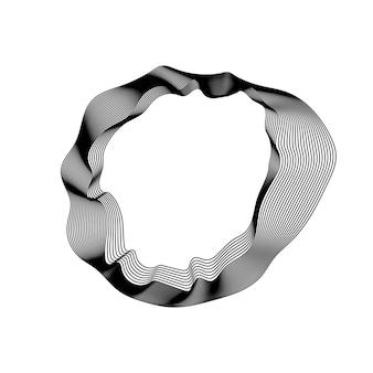 Coleção de linhas de contorno abstrata monocromática