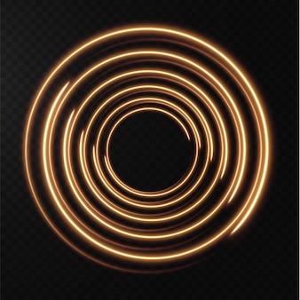 Coleção de linhas de meio-tom amarelo claro linhas de vetor de ouro radial de velocidade ilustração vetorial