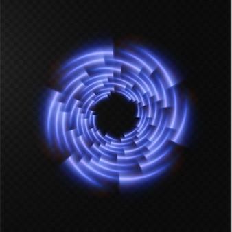 Coleção de linhas de meio-tom azul claro linhas de vetor azul radial de velocidade ilustração vetorial