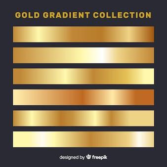 Coleção de listras gradientes metálicas