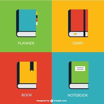 Coleção de livros coloridos