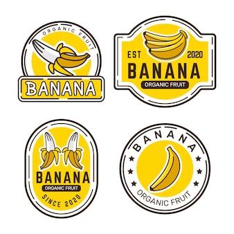Coleção de logo banana