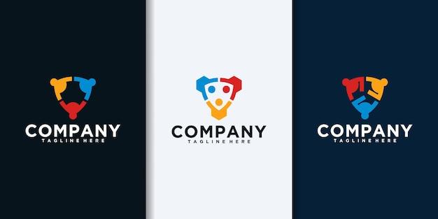 Coleção de logo da comunidade. vetor de design de logotipo