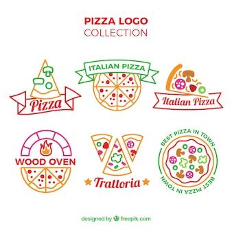 Coleção de logo da pizza