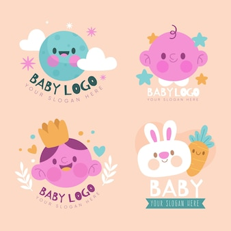 Coleção de logo de bebê