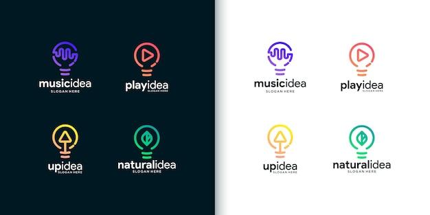 Coleção de logo de ideia criativa