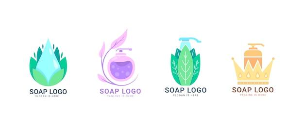 Coleção de logo de sabonete