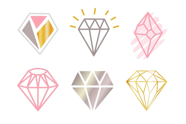 Coleção de logo diamond