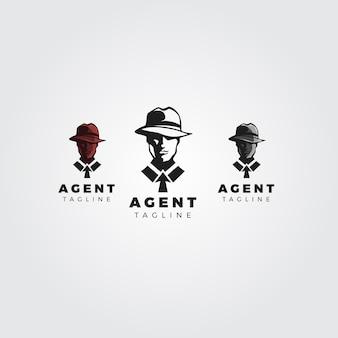 Coleção de logo do agente