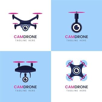 Coleção de logo drone