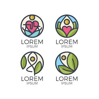 Coleção de logo floral