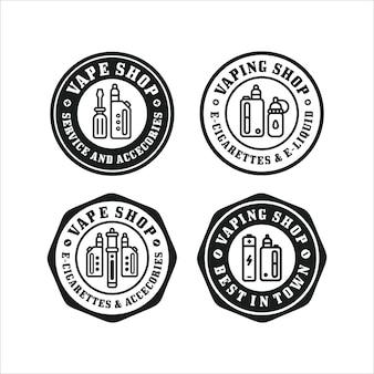 Coleção de logo premium com design da loja vape