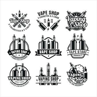 Coleção de logo premium da vape shop