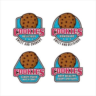 Coleção de logo premium de design de cookies