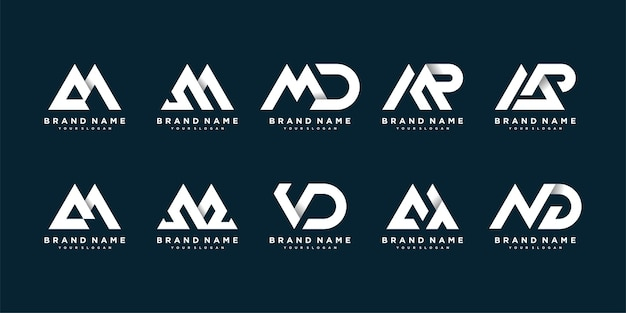 Coleção de logomarca com conceito arrojado e moderno para a marca da empresa