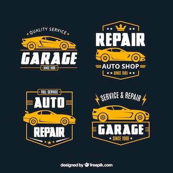 Coleção de logos de carros planos