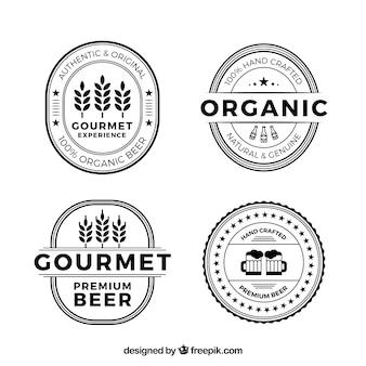 Coleção de logos de cerveja plana