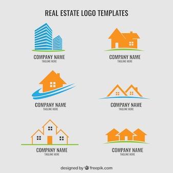 Coleção de logos imobiliário
