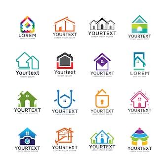 Coleção de logos para casas e edifícios
