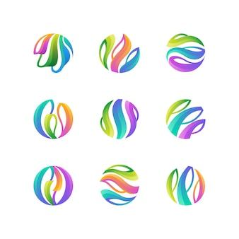 Coleção de logotipo abstrato colorido