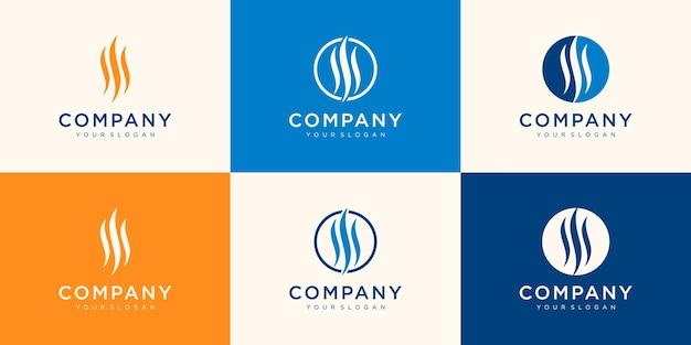 Coleção de logotipo abstrato da empresa
