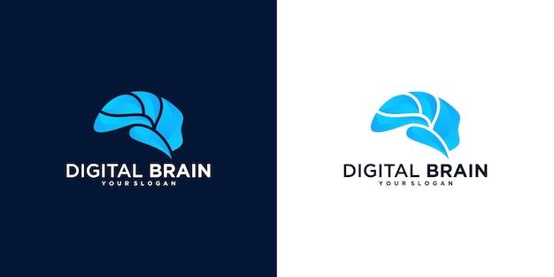 Coleção de logotipo abstrato do cérebro