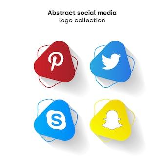 Coleção de logotipo abstrato mídia social
